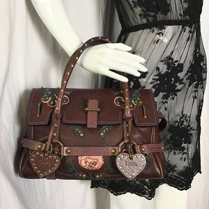 Luella Leather Gisele Rose Floral Bag